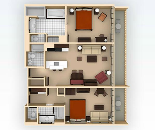 animal-kingdom-villas 2bedroom layout