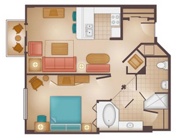 beach-club-villas 1-bedroom layout